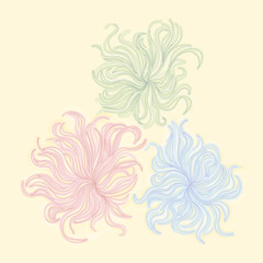 Abstract imaginary flowers.