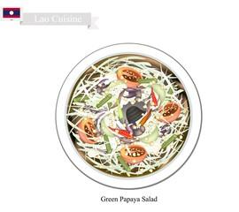 Green Papaya Salad, A Popular Dish in Laos