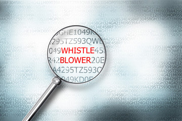 reading whistle blower screen magnifying glass 3d illustration