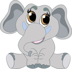 carton grey elephant