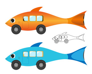 Creative fish bus