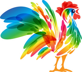 Stylized rooster design