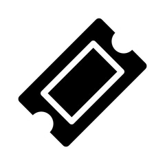 Movie ticket or theater ticket flat icon for apps and websites