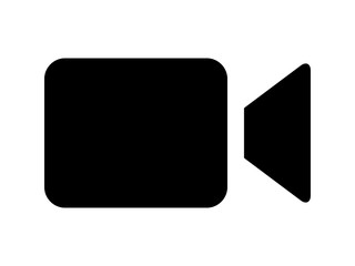 Video camera / camcorder flat icon for apps and websites