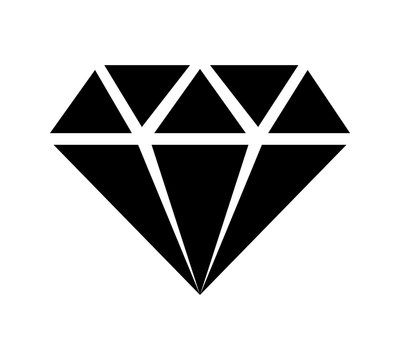Diamond jewel gem flat icon for apps and websites