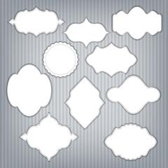 Set of frame with design