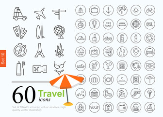 60 travel icons