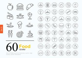 60 food icons