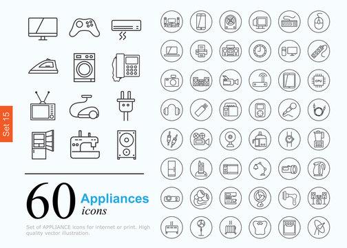 60 appliances icons
