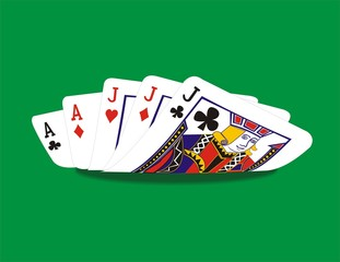 Full hand poker