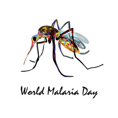 World Malaria Day. Medical illustration. Health care