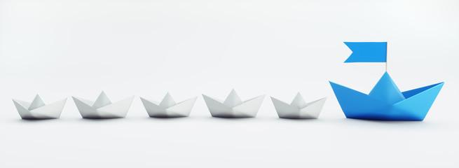 Papierschiff-Flotte