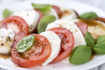 Mozzarella, Tomatoes and Balasmico Dressing