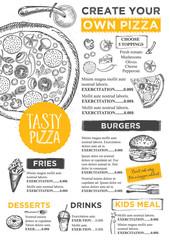 Restaurant cafe menu, template design.