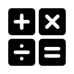 Calculator arithmetic operation signs / symbols flat icon for apps