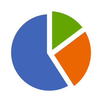 Statistical pie chart / piechart flat icon for apps and websites