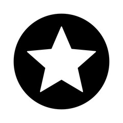 Star inside circle or star stamp flat icon for apps and websites