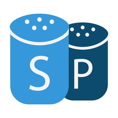 Salt and pepper flat icon. Illustration for web and mobile design.