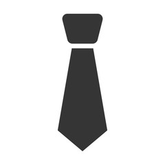Tie flat icon. Illustration for web and mobile design.