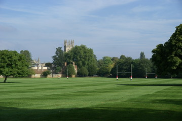 Rugby Pitch at Merton Field, Oxford