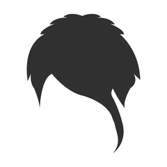 Hair black simple icon. Illustration for web and mobile design.