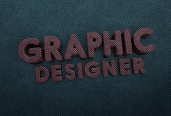 Graphic Designer, 3D Typography