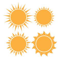 set of sun icon