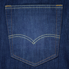 Closeup pocket jean background