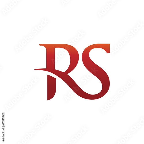 Letter R And S Rs Sr Letter S Letter R Logo Stock Image And