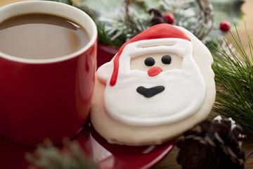 santa claus biscuit