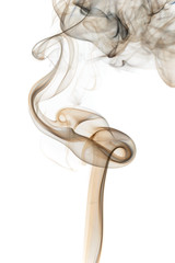 Abstract colored smoke from aromatic sticks.