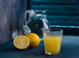 Citrus homemade lemonade, summer drink.