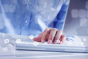 Man surfing the Internet