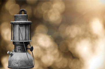 old hurricane lamp
