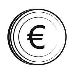 Euro icon, simple style