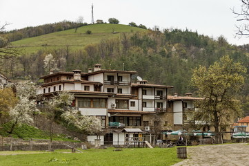 Part of Etar village with guest house in old architectural style, Gabrovo town, Bulgaria
