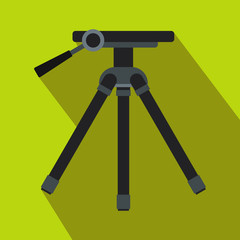 Tripod icon in flat style