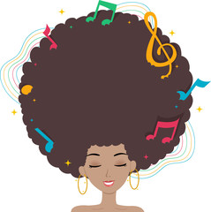 Teen Girl Hair Music