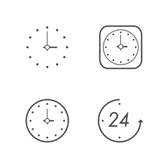 clock line icons set