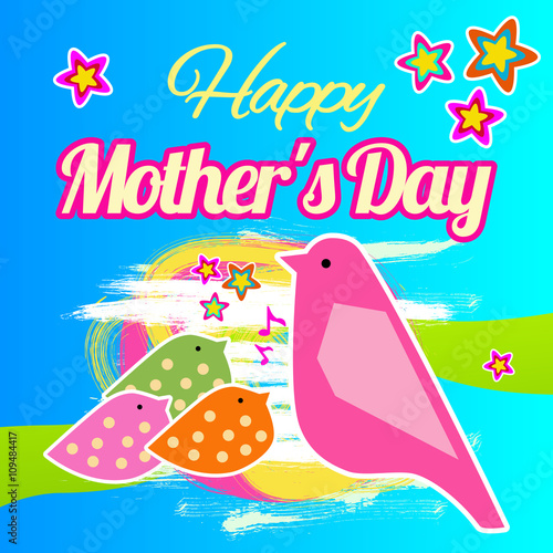 Happy Mothers Day Card Happy Mothers Day Vector Lettering
