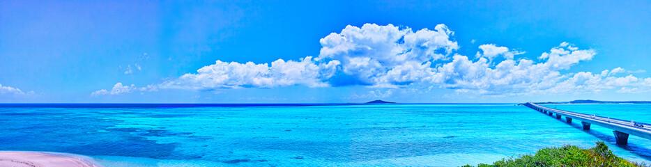 Poster Mer / Ocean 宮古島 池間島から見た池間大橋と大神島