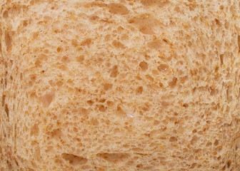 Texture macro slice of bread