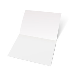 A sheet of paper folded in half.