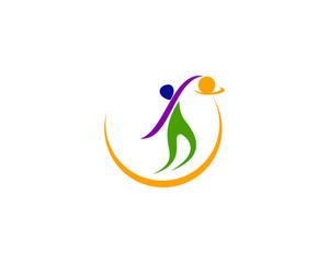 Basketball logo Olympic Style