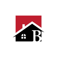 square innitial real estate logo b
