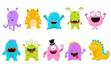 Cute Monster Set Fotoväggar
