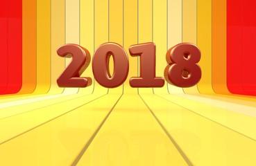 2018, 3D Typography