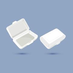 foam lunch box - vector
