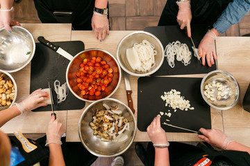 Foto auf AluDibond Kochen culinary workshop