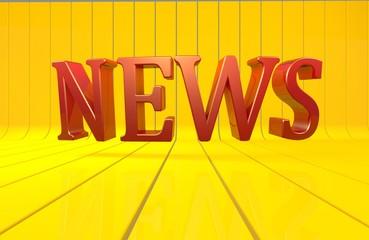 News, 3D, Text, Medya